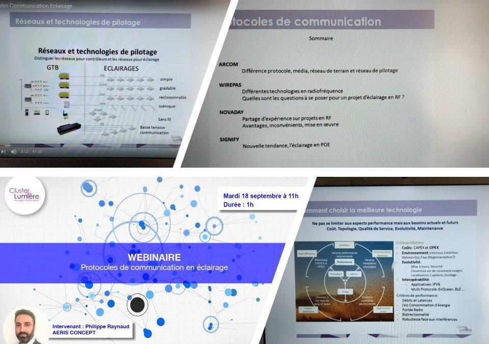 Webinaire «Les protocoles de communication en éclairage»