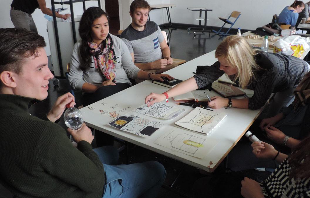 Workshop à Leipzig étudiants Licence pro éclairage pour la Fête des Lumières 2018