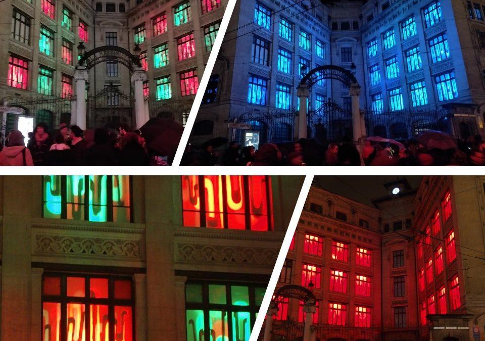 Fête des Lumières 2018 – Projet « Mirage » – Projet collaboratif entre filières de régie lumière et de Design