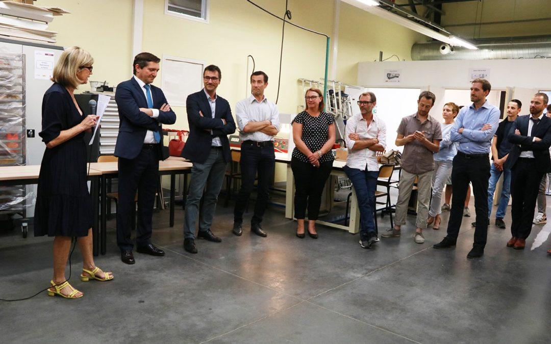 Inauguration de la plateforme «Eclairage performant» au lycée Branly